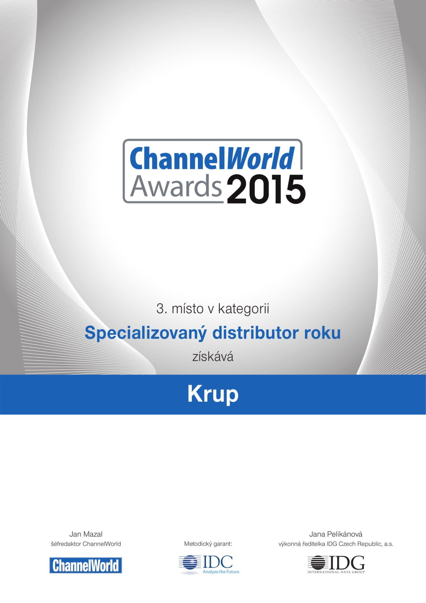 ChannelWord 2015 third place