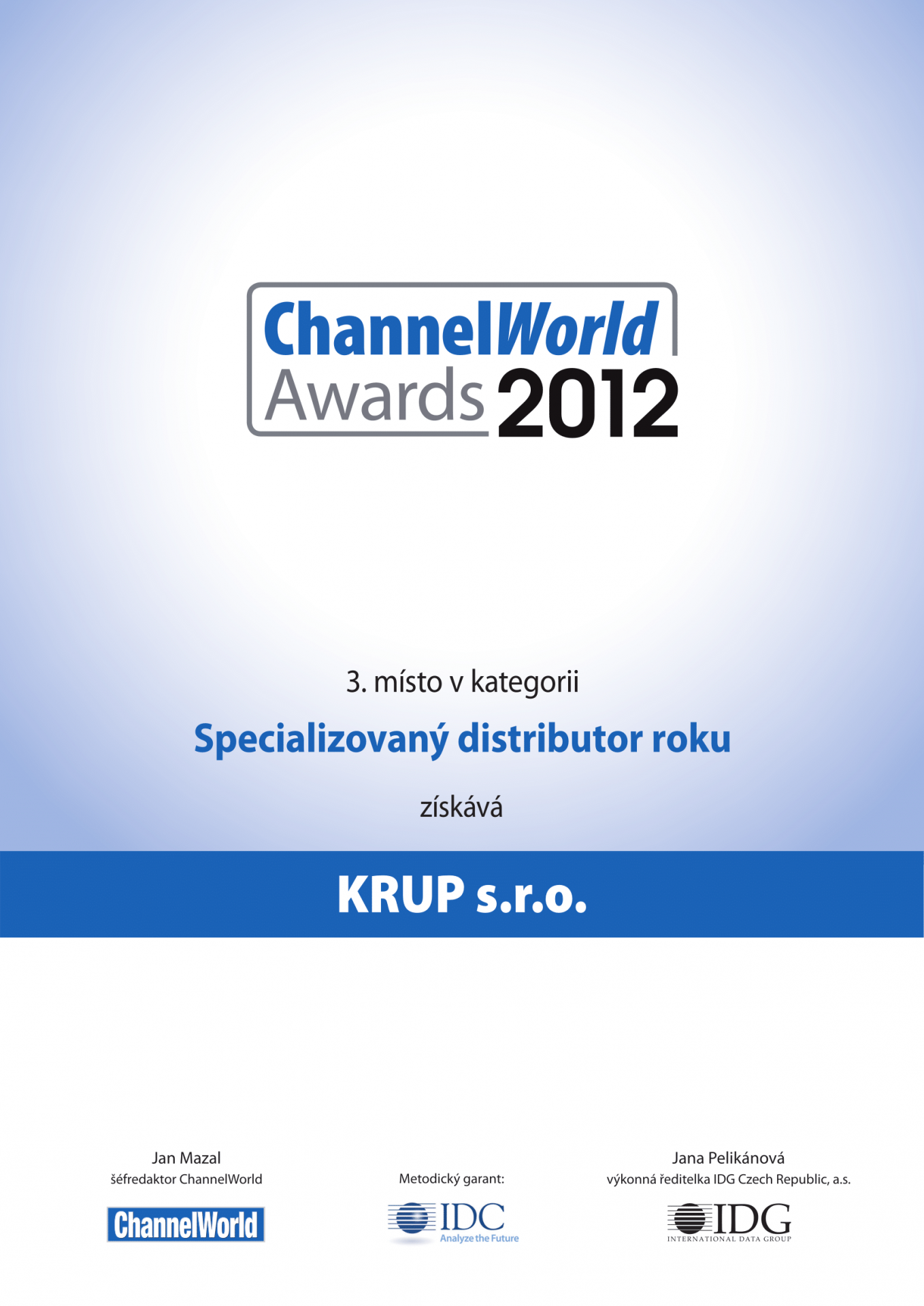 ChannelWorld 2012 third place