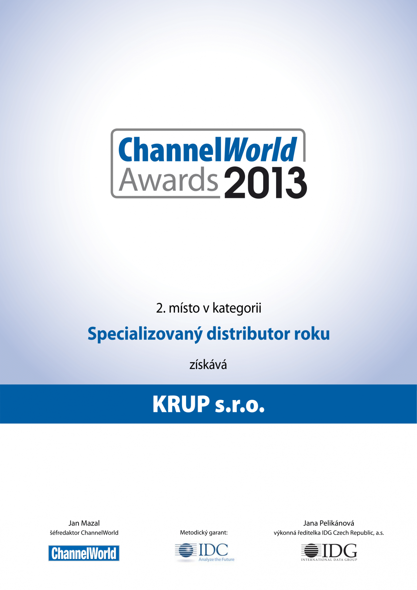ChannelWorld 2013 second place