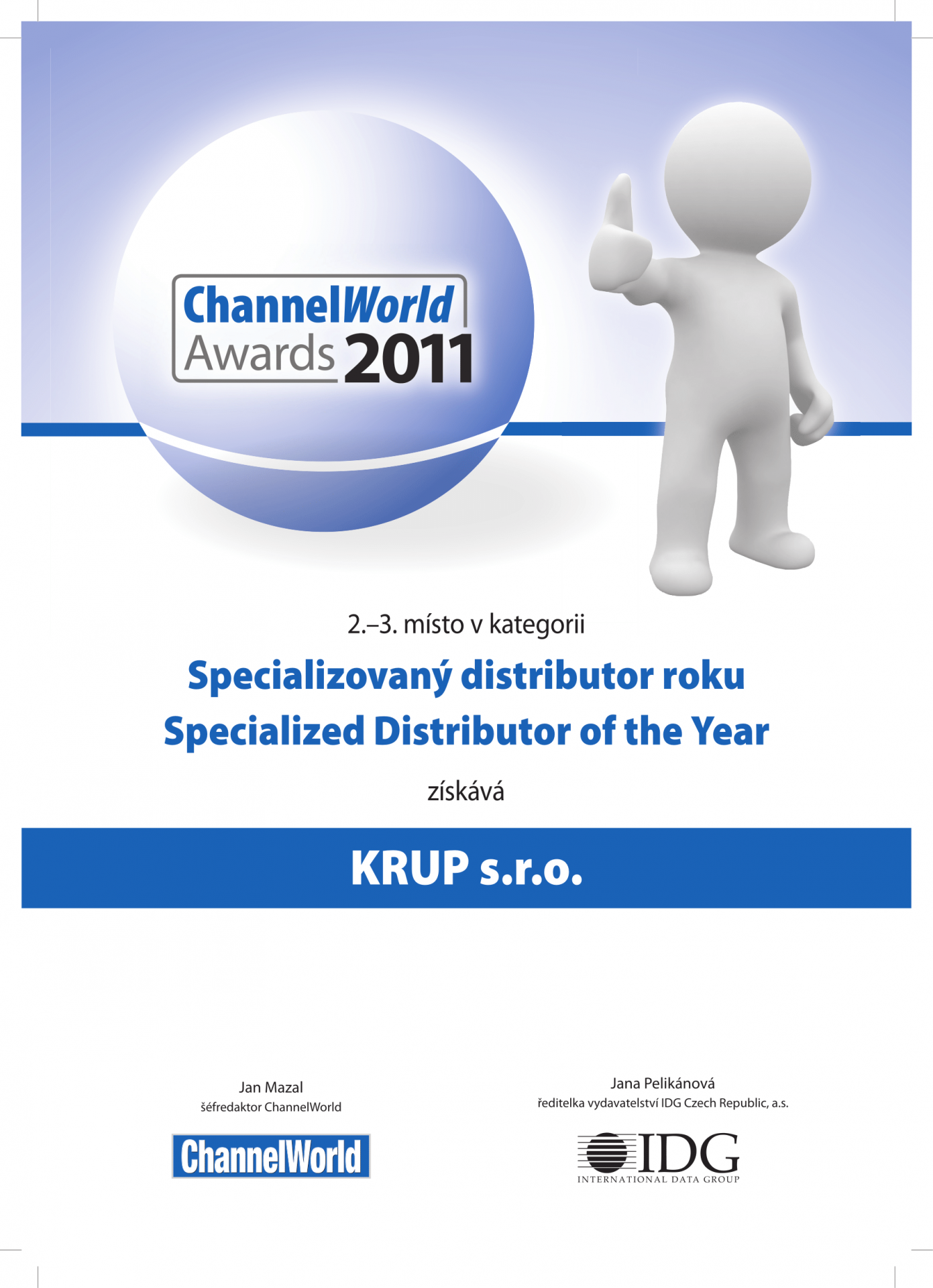 ChannelWorld 2011 second place
